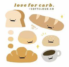 #bread #printables #journal #journaling #kpop #kpopjournal Kawaii Doodles, Cute Doodles, Kawaii Stickers, Cute Stickers, Wallpaper Iphone Cute, Cute Wallpapers, Korean Stickers, Cute Journals, Korean Stationery