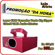 PROMOÇÃO - Laser K800 Vermelho Verde Big Dipper: De R$ 379,90 Por R$ 359,90 em http://www.aririu.com.br/k800-laser-big-dipper-vermelho-verde-150mw-dmx-bivolt-audio_90xJM