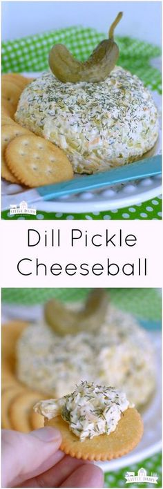Pickle Cheeseball (Easy Appetizer) Dill Pickle Cheeseball is a super easy appetizer that will be a winner at any party!Dill Pickle Cheeseball is a super easy appetizer that will be a winner at any party! Quick And Easy Appetizers, Finger Food Appetizers, Yummy Appetizers, Appetizers For Party, Finger Foods, Appetizer Recipes, Easy Thanksgiving Appetizers, Easy Appies, Salad Recipes