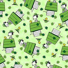 A Wee Bit Irish - Snoopy on St. Patrick's Day - Lt Green