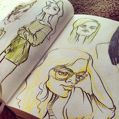 .@Sophie | More ladies tagged #me on insta in my #sketchbook