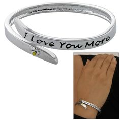 I Love You More Paw Print Bracelet