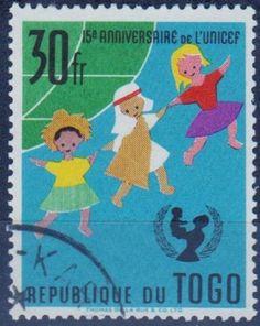 Togo - UNICEF 15th year anniversary stamp.