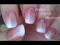 Ombre French Manicure Design In Shades Of Beige: Today's nail art tutorial video is a Fade French Manicure tutorial using makeup sponge. Nail Art Designs, Ombre Nail Designs, French Manicure Nails, French Manicure Designs, Nail Art Diy, Easy Nail Art, Galeries D'art D'ongles, Sponge Nail Art, Makeup Sponge