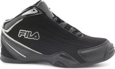 Fila Kid's Slam 12C Athletic Sneakers, Black Synthetic, L...