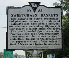 Sweetgrass is used by native Gullah/Geechees for a number of utilitarian items with baskets being the primary ones.   This tradition of sewing the baskets was brought to the Sea Islands from West Africa and continues today. www.gullahgeecheenation.com