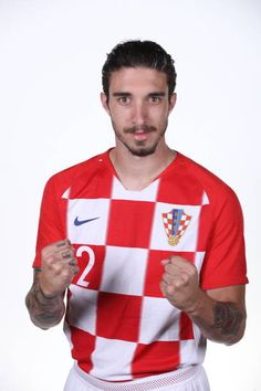 Sime Vrsaljko of Croatia of Croatia poses during the official FIFA World Cup 2018 portrait session at on June 12 2018 in Saint Petersburg Russia