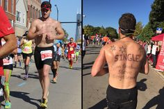 Chicago Marathoner Lands Date from Personal Ad Written on His Back