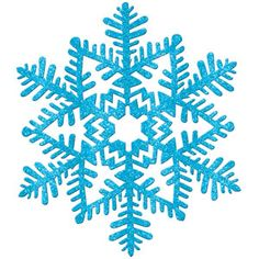 "11"" Blue Glitter Snowflake"