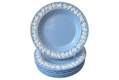 Wedgwood Queens Ware Plates, S/4 on OneKingsLane.com