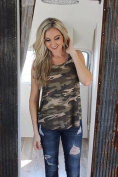 Jane Camo Tank