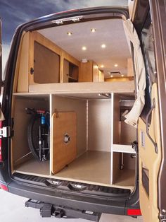55 Awesome Brilliant Sprinter Camper For Your Inspiration. Other individuals create their motorhome a short-term residence while they remodel their home or construct a new one. For nearly any adventure you may. Van Conversion Interior, Camper Van Conversion Diy, Van Interior, Sprinter Van Conversion, Van Conversion Bed Ideas, Ford Transit Conversion, Van Conversion With Garage, Van Conversion With Bathroom, Mercedes Sprinter Camper Conversion