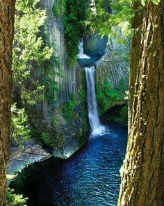 Toketee Falls, North Umpqua, Oregon among 50 other waterfalls in area just as beuatiful and even taller that you cam hike into. Beautiful Waterfalls, Beautiful Landscapes, Places To Travel, Places To See, Travel Destinations, Nature Landscape, Oregon Travel, Oregon Vacation, Vacation Wear