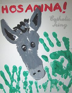Dibujar un burro con las manos. Proyecto escolar animales de la granja