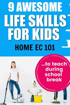 Life Skills for kids. We are trying to teach kids to be productive members of society so we need to make sure to teach these home ec skills whenever we can. Life skills for kids. Mindful Parenting, Parenting Teens, Kids And Parenting, Parenting Hacks, Teaching Life Skills, Teaching Kids, Real Moms, Raising Kids, Kids House