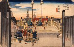 歌川広重(初代)《東海道五拾三次之内 日本橋・朝之景》