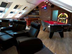 Loft cinema room by Mood Interiors
