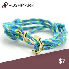 New On Trend Nautical Anchor & Rope Wrap Bracelet New On Trend Nautical Anchor & Rope Wrap Bracelet  These bracelets are seen worn by celebs and fashionistas everywhere!! They are made out of a really colorful cord/wrap and have a nautical anchor as a closure! Don't miss this!   Your orders are a blessing and I'm grateful for your business! Thanks for stopping by! Feel free to leave me a comment so that I can check out closet too:) Jewelry Bracelets
