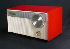 Zenith Model J508W Red Amp White Tube Radio from 1962 Repaired and Working Well | eBay