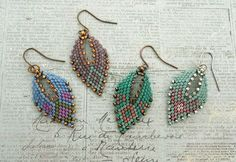 Russian Leaf Earrings - Four More Samples