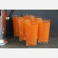 Ampersand Vintage Modern | Orange Highball Glasses