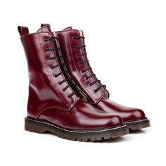 Frida Burgundy Lace Up Vegan Boots - I love the color of these boots!
