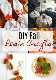 It's safe to say that Fall is a season that is an all-time favorite for many of us. Maybe it's the changing leaves, the cooler temperatures or the holidays we celebrate during autumn time. Diy Resin Crafts, Upcycled Crafts, Diy Craft Projects, Diy Pumpkin, Pumpkin Vase, Fall Mantel Decorations, Fall Decor, Fall Diy, Autumn Fall
