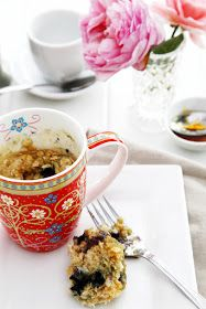 The Whimsical Wife // Cook . Create . Decorate: Tasty Tuesday - Blueberry & Oat Breakfast Mug Muffin