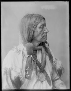 Shooting Cat, Brule Sioux - 1904 U. S. Indian School, St Louis, Missouri 1904, by Charles H. Carpenter Photograph probably taken at the Louisiana Purchase Exposition, St. Louis Wearing hair fringe...