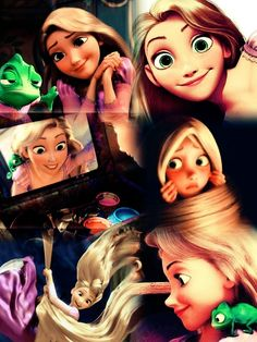 Baby face bias-Rupunzel has large green eyes and a button nose to show innocence to the audience which is children.