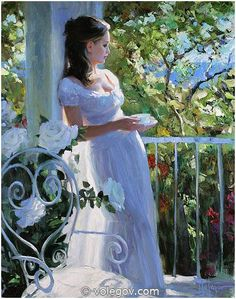 TEA ON BALCONY, Vladimir Volegov