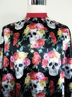 Hemet Skulls Pile and Roses Two Tier Apron Black Polka dot ruffle/'s