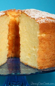 Citrus Chiffon Cake recipe from Jenny Jones (JennyCanCook.com) - Light as a feather, fragrant, and not too sweet.