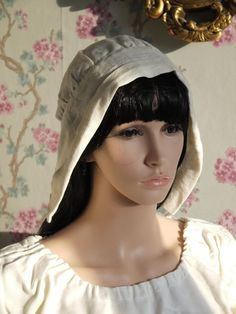 64bc2aa35c1 Coif Medieval Linen for women or girls. Medieval headdress