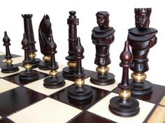 Elegant german vintage chess set.