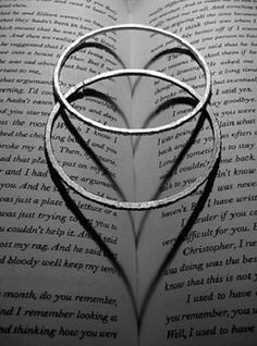 do this with the wedding rings and the scriptures opened to a passage about marriage, love, or charity. <3 it!
