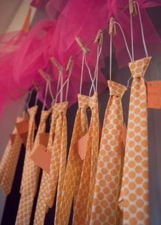 cute tie idea for birthday party