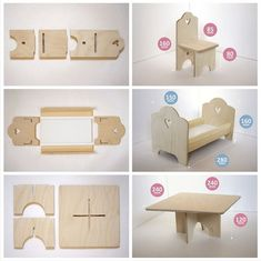 Кукольная мебель:  несложно сделать и подарить целый мир Diy Cardboard Furniture, Diy Barbie Furniture, Fairy Furniture, Cardboard Crafts, Dollhouse Furniture, Cardboard Dollhouse, Diy Dollhouse, 3d Puzzel, Baby Annabell