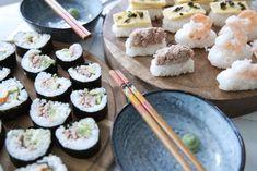 Recept: Zelf Sushi maken Sashimi, Grains, Rice, Ethnic Recipes, Blog, Blogging, Seeds, Laughter, Jim Rice