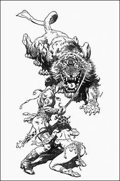 John Carter & Dejah Thoris by Frank Frazetta