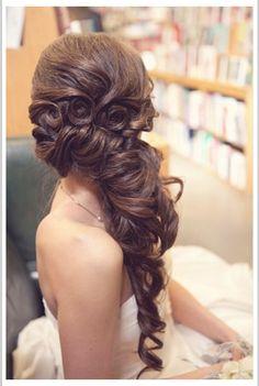 Peinado muy bonito