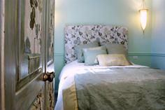 Upholstered Headboard and bedroom design by Jane Hall