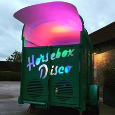 Horsebox Disco DJ Booth at Lynn and Danny's wedding with Lionel Richtea
