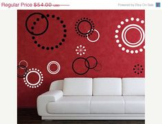 SALE 10% off ALL Decals Wall Decal Circles - Circle Decals. $48.60, via Etsy.