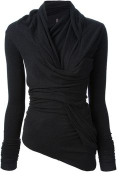 Rick Owens Twisted Sweater in Black (grey) Mode Yoga, Sweater Design, Get Dressed, Autumn Winter Fashion, What To Wear, Rick Owens, Style Me, At Least, Cute Outfits