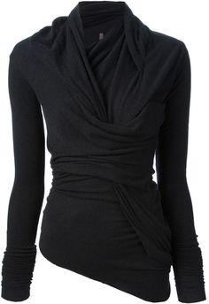 Rick Owens Black Twisted Sweater