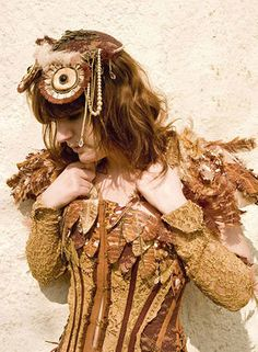 feather & lace owl costume