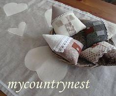 My country nest: Cuori e casette..country chic per il tavolo