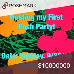 🎉🎉🎉Hosting my first posh party on 9/25! Looking for posh compliant closets for host picks! • Must follow all posh rules. • Please like this listing, and I will take a look at your closet. • Please do not tag me in listings, but feel free to comment with closets I should check out here. • Theme to be announced as soon as I know. 😊😍🎉. Please share this listing to get exposure, thanks. Other