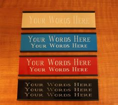 Engraved Door or Wall Name Plate 2 x 8 aluminum, stall plate, engraving, tag